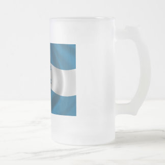 Flag of Honduras Frosted Glass Beer Mug
