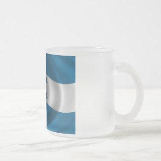 Flag of Honduras Frosted Glass Coffee Mug