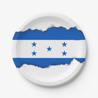 Flag of Honduras Paper Plate
