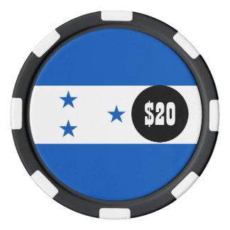 Flag of Honduras Poker Chips