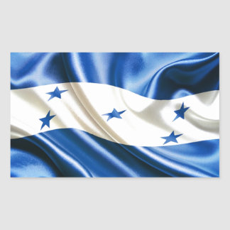 FLAG OF HONDURAS RECTANGULAR STICKER