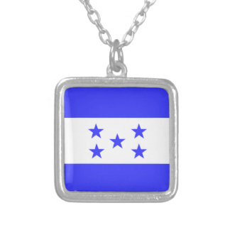 Flag of Honduras Silver Plated Necklace