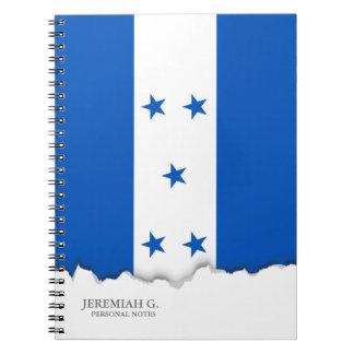 Flag of Honduras Spiral Notebook