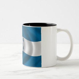 Flag of Honduras Two-Tone Coffee Mug