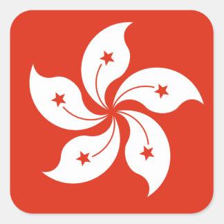 Flag of Hong Kong Bauhinia Blakeana HK Flag Square Sticker