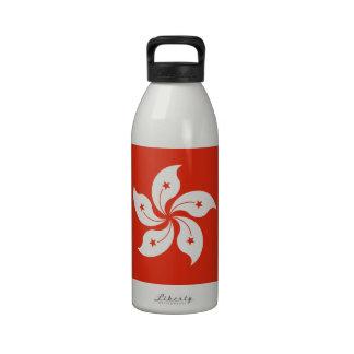Flag of Hong Kong Bauhinia Blakeana HK Flag Drinking Bottles