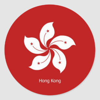 Flag of Hong Kong Classic Round Sticker