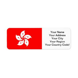 Flag of Hong Kong Return Address Label