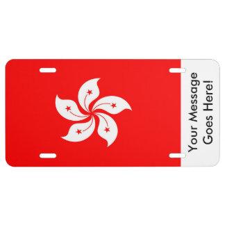 Flag of Hong Kong License Plate