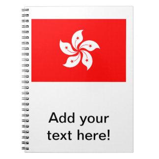 Flag of Hong Kong Spiral Notebook