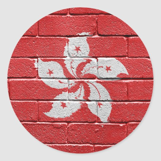 Flag of Hongkong Classic Round Sticker