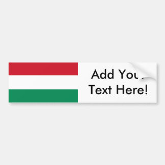 Flag of Hungary Bumper Sticker