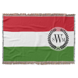 Flag of Hungary Throw Blanket