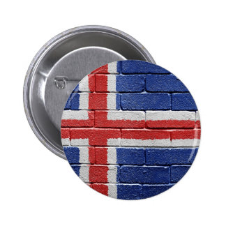 Flag of Iceland 2 Inch Round Button