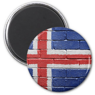 Flag of Iceland 2 Inch Round Magnet