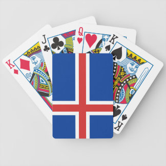 Flag of Iceland Bicycle Playing Cards