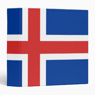 Flag of Iceland Vinyl Binders