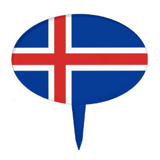 Flag of Iceland Cake Topper