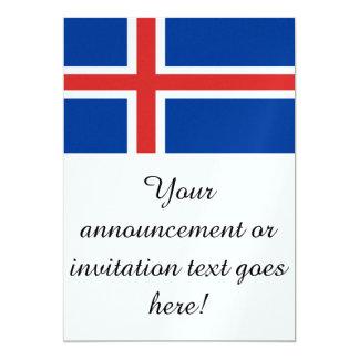 Flag of Iceland Card