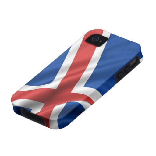 Flag of Iceland Vibe iPhone 4 Cover