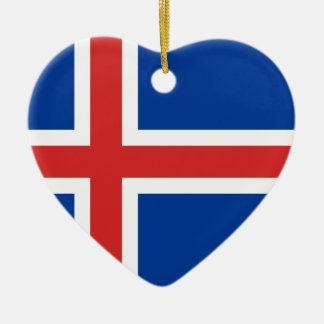 Flag of Iceland Ceramic Ornament