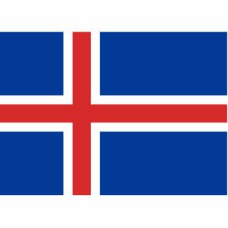 Flag of Iceland Cutout