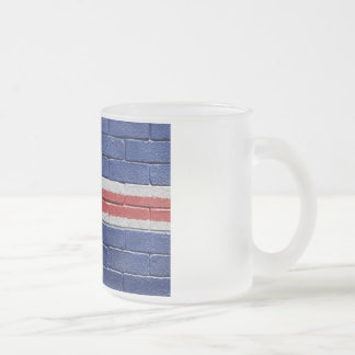 Flag of Iceland Frosted Glass Coffee Mug
