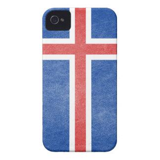 Flag of Iceland Grunge iPhone 4 Case