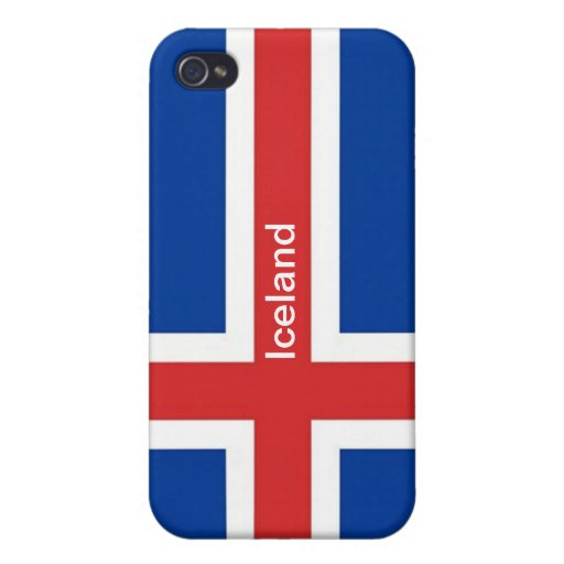 Flag of Iceland Cover For iPhone 4