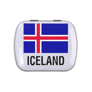 FLAG of ICELAND Jelly Belly Candy Tins