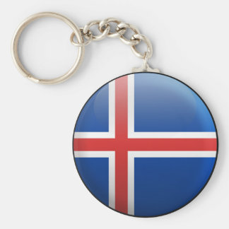 Flag of Iceland Key Chain