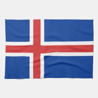 Flag of Iceland Kitchen Towel