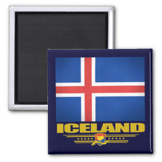 Flag of Iceland 2 Inch Square Magnet
