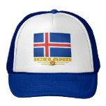 Flag of Iceland Mesh Hats