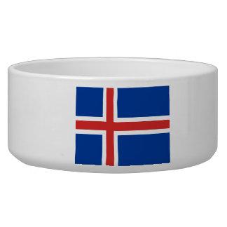 Flag of Iceland Pet Food Bowl