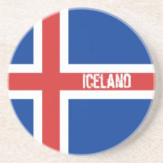 Flag of Iceland Sandstone Coasters