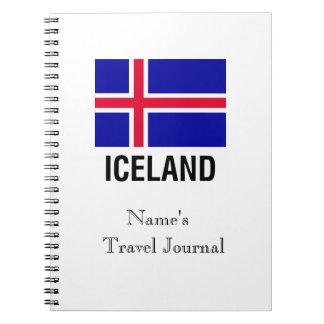 FLAG of ICELAND Spiral Notebook
