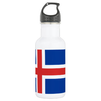 Flag of Iceland Stainless Steel Water Bottle