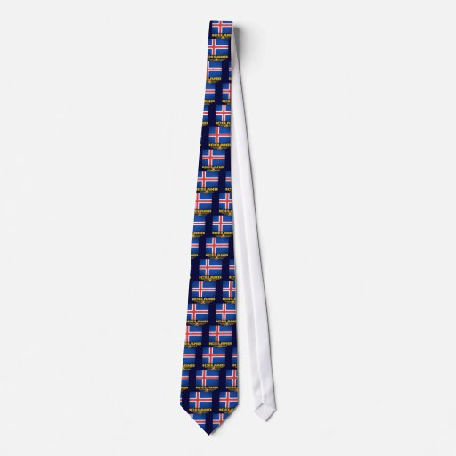 Flag of Iceland Tie