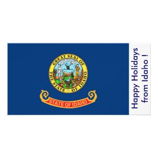 Flag of Idaho, Happy Holidays from U.S.A. Card