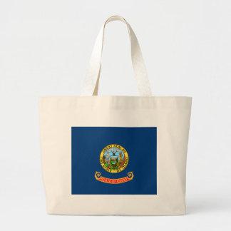 Flag of Idaho Large Tote Bag