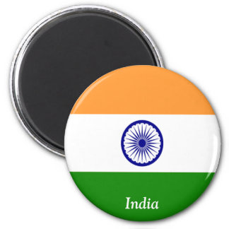 Flag of India 2 Inch Round Magnet