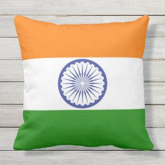 Flag of India Ashoka Chakra Outdoor Pillow