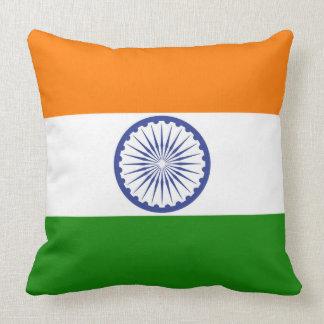 Flag of India Ashoka Chakra Throw Pillow