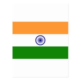 Flag of India. Bharat Ganrajya Postcard