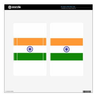 Flag of India Bharat Ganrajya Decal For Kindle Fire