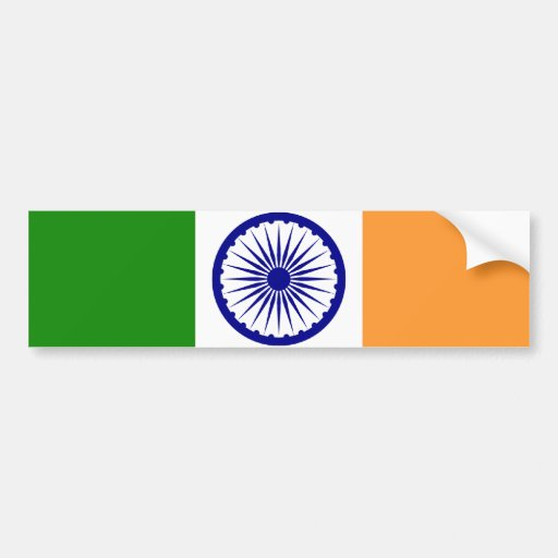 Flag of India Car Bumper Sticker