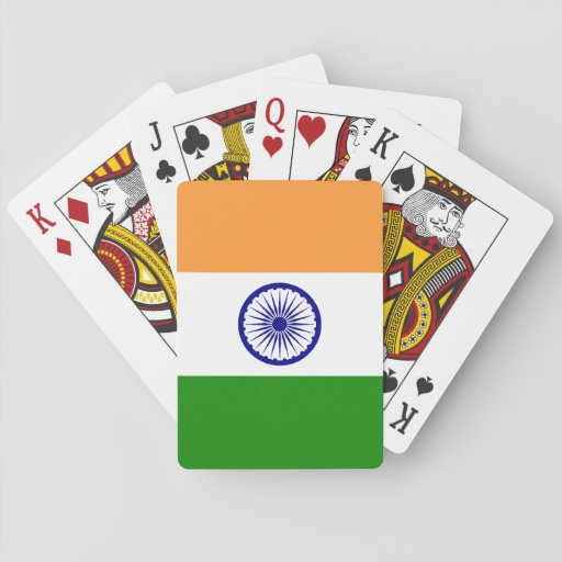 Flag of India Poker Cards