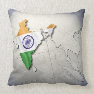 Flag of India Throw Pillows