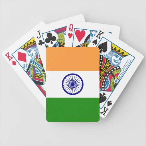 Flag of India Bicycle Playing Cards